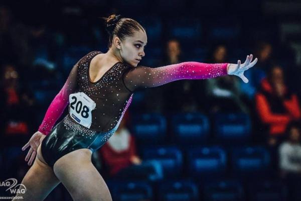 Тернопільська гімнастка Анастасія Бачинська виборола золоту медаль на чемпіонаті Європи