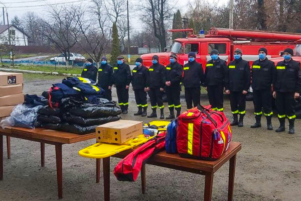 Рятівникам Тернопільщини передали цінні подарунки
