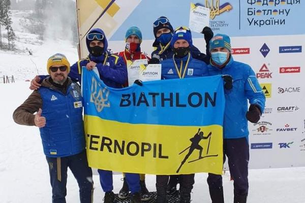 Спортсмени з Тернопільщини стали срібними призерами України з біатлону
