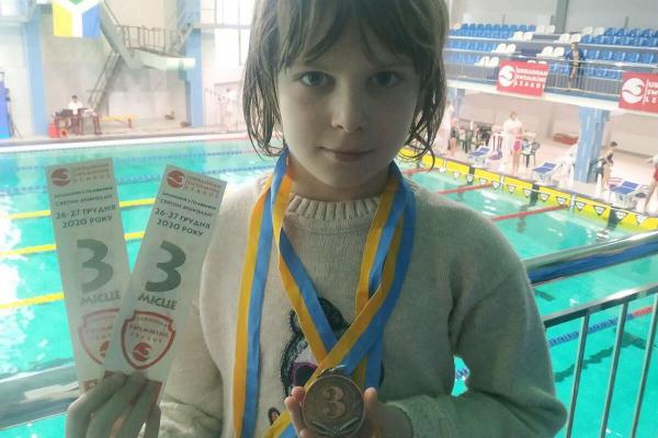 Юна спротсменка із Бережан Аліна Верех здобула призове місце на Всеукраїнських змаганнях з плавання