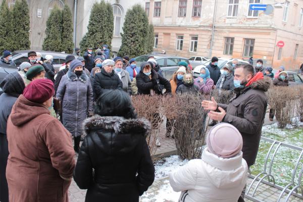 Жителі Бережан протестували проти підвищення комунальних тарифів