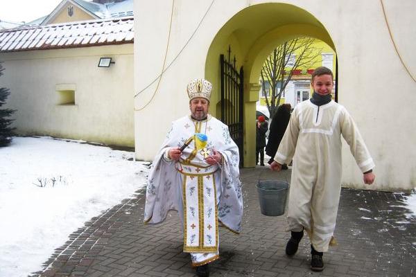 Як проходило Водохреща в Теребовлянській ПЦУ Святого рівноапостольного князя Володимира