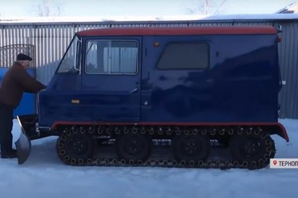 Чоловік з Тернопільщини змайстрував снігохід-всюдихід (Відео)
