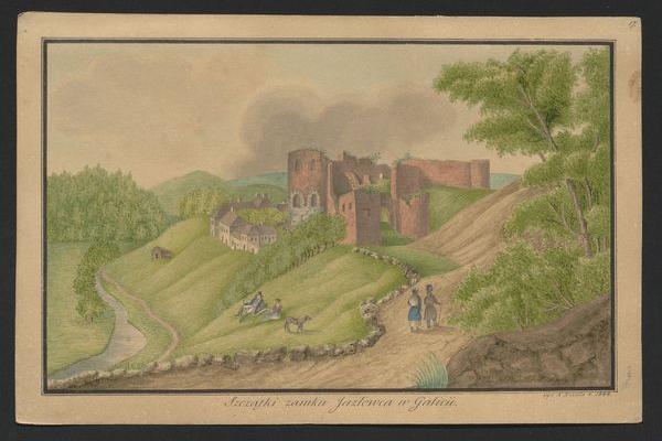 Язловецький замок на картинах ХІХ століття