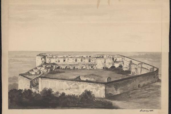Замок в Чорткові на Тернопільщині у ХІХ столітті