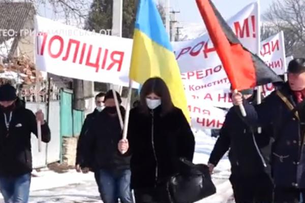 У Гримайлівській ОТГ відбулися збори мешканців та мирний протест