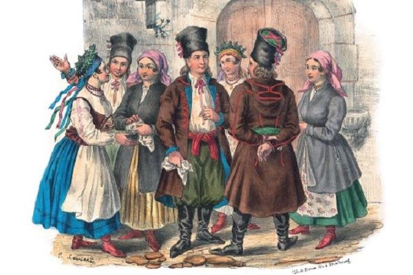 Мешканці Поділля на малюнку 1841 року