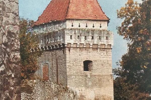 Замок в Скалаті на ретро фото
