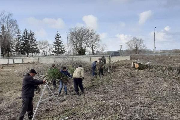 У Лановецькому зооботсаду висадили 200 дерев