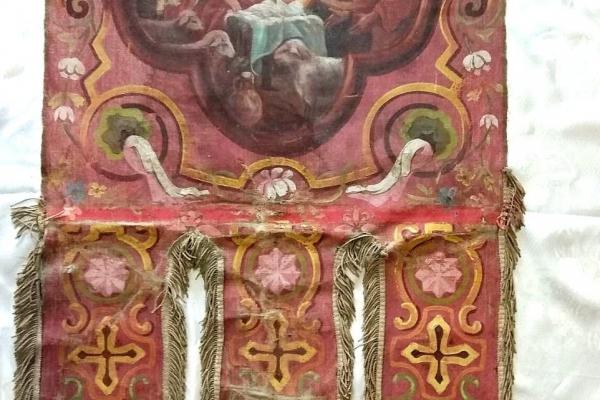 Колекція Національного заповідника «Замки Тернопілля» поповнилася столітніми хоругвами