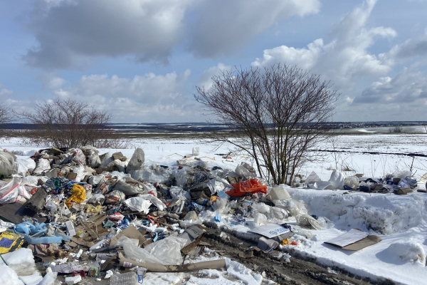 Неподалік Тернополя люди створили незаконне сміттєзвалище