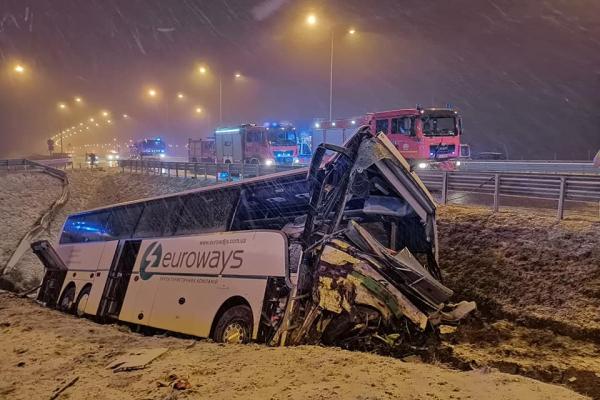 В Польщі знову перевернувся український автобус, одна людина загинула