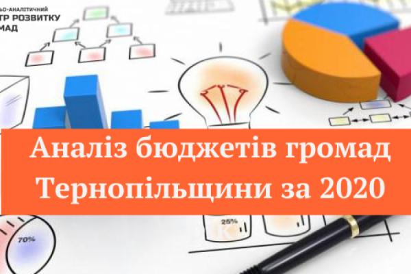 Аналіз фінансових показників громад Тернопільщини: рейтинг за 2020 рік