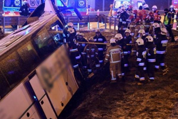 У Польщі прокоментували повторну аварію українського автобуса на тій самій ділянці дороги