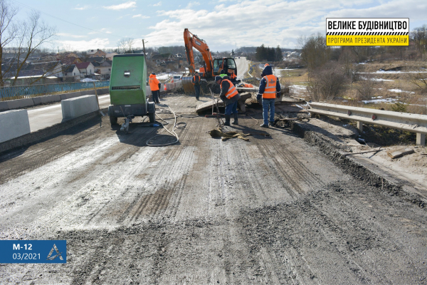 Дорога Єдності: стартували роботи на ділянці у Тернопільській області