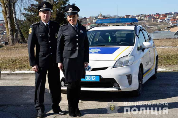 Одній із поліцейський станцій Тернопільщини передали автомобіль