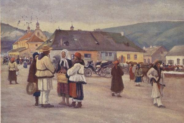 Місто Заліщики на картинах 100 років тому