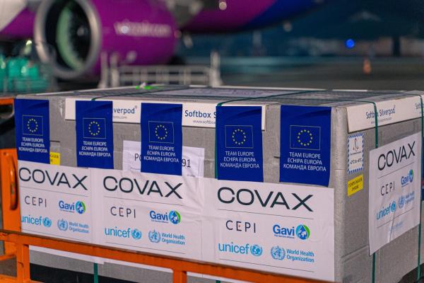 В Україну прибула ще одна партія вакцини у рамках ініціативи COVAX