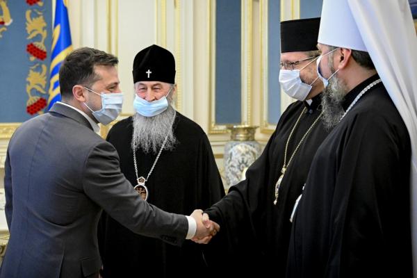 Президент зустрівся з керівниками ПЦУ, УПЦ та УГКЦ напередодні Великодня
