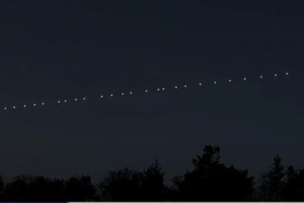Незвичайне явище помітили тернополяни - супутники Starlink