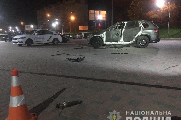 В Івано-Франківську підірвали авто тернополянина