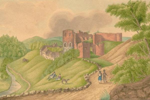 Язловецький замок на картинах 1830-1840-х років