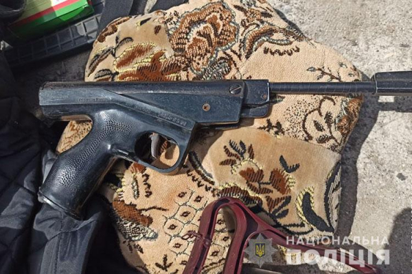 На Тернопільщині правоохоронці зупинили авто зі зброєю