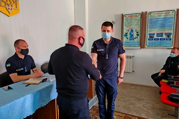 У Тернополі представили нове керівництво державного пожежно-рятувального загону