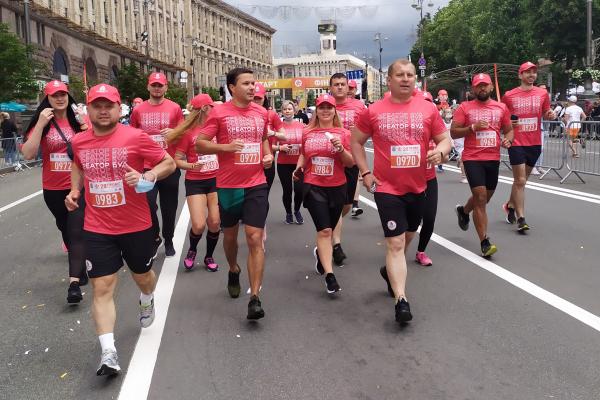 Команда Креатор-Буд взяла участь у благодійному марафоні «Пробіг під каштанами 2021» у Києві