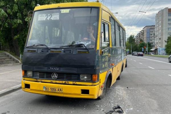 У Тернополі ДТП: не розминулися два автобуси