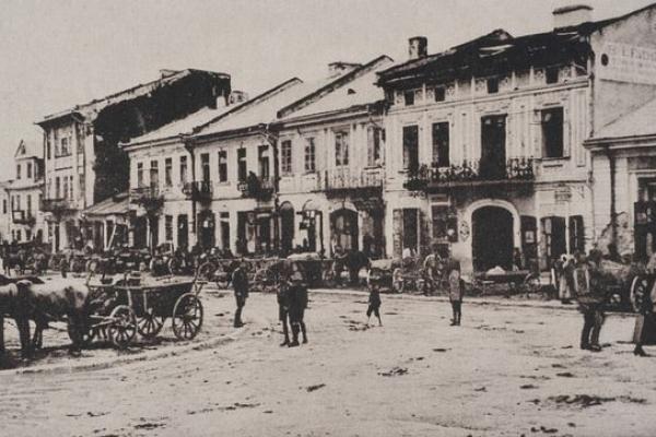 Площа Ринок в Бережанах на ретро фото