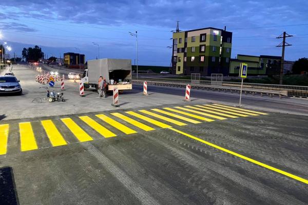 Тернопіль: на новій дворівневій транспортній розв'язці відкрили проїзд