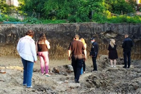 У Тернополі під час будівництва знайшли рештки скелету