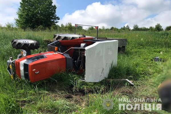На Тернопільщині ДТП: правоохоронці встановлюють причину смерті тракториста