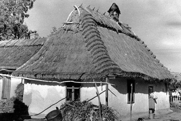 Хати на Поділлі в 1942 році