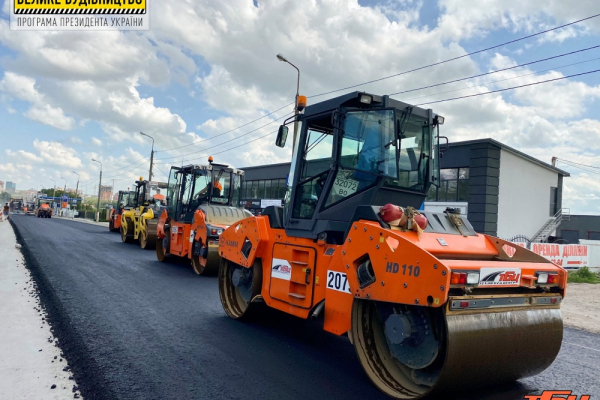 У Тернополі триває будівництво дороги М-30