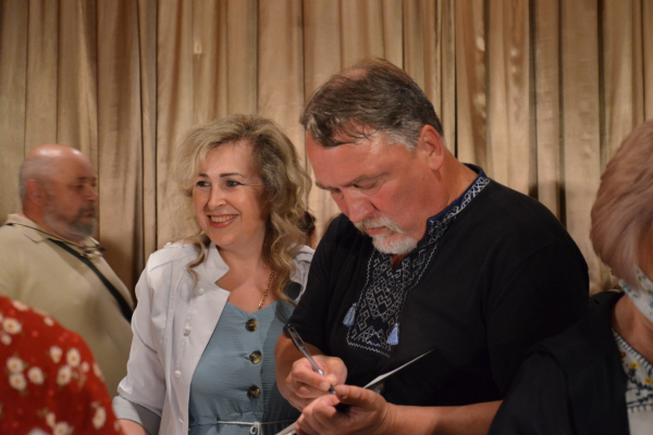 Брати Капранови у Чорткові презентували новий роман «Рута»