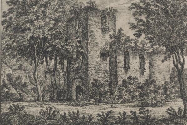 Монастир в Бучачі на малюнках ХІХ столітті