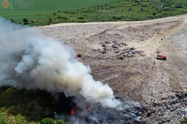 Тернопільщина: на Малашовецькому сміттєзвалищі виникла пожежа