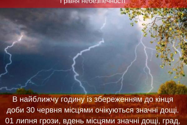 На Тернопільщині оголошений І рівень небезпечності