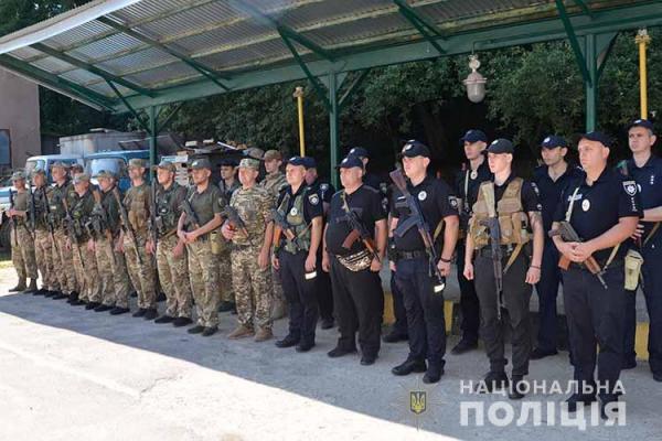 У зону ООС відбув зведений загін тернопільських поліцейських