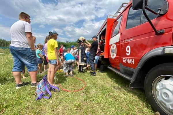 Бучацькі рятувальники провели навчання для дітей (фото)