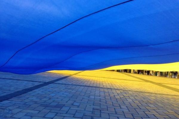 Між Тернопільською та Хмельницькою областями розгорнуть найдовший прапор України