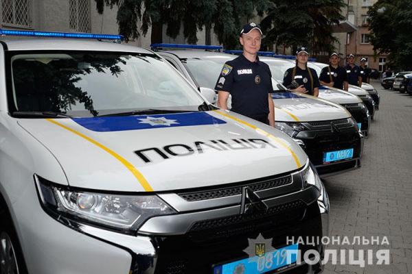 Тернопільським поліцейським вручили ключі від нових автівок