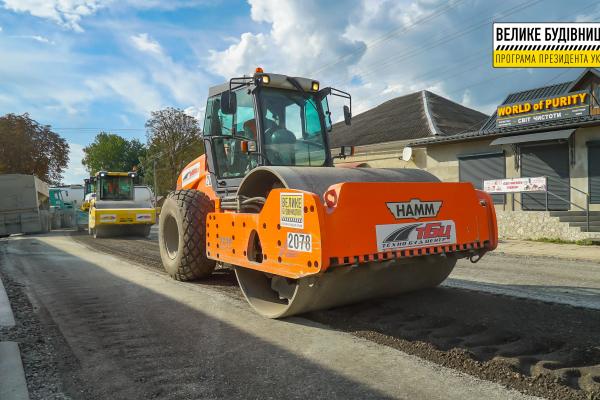 За програмою «Велике будівництво» Володимира Зеленського в Тернопільській області ремонтують ще 36 км доріг