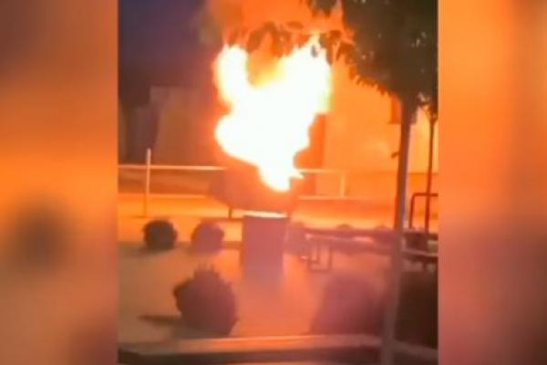 На Тернопільщині діти підпалили сміттєвий бак