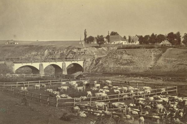 Село Козаччина на фото ХІХ століття