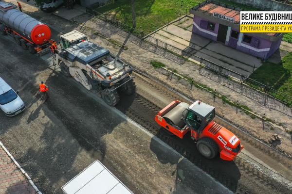 На одній з найбільш знищених доріг Тернопільщини – 10 кілометрів новенького покриття
