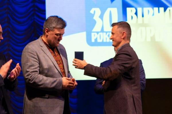 Голова Тернопільської обласної ради нагородив Олега Тягнибока «За заслуги перед Тернопільщиною»