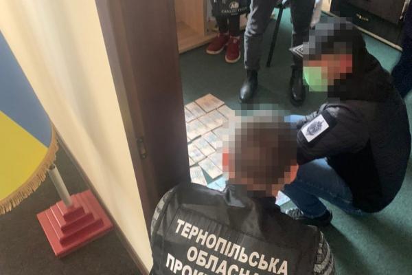 Вимагав хабар: правоохоронці Тернопільщини затримали посадовця